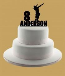 wedding photo - Custom Dab Cake Topper, Custom Cake Topper, Cake Topper, Birthday Cake Topper, Name Cake Topper, Personalized Cake Topper