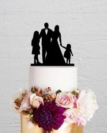 wedding photo - Family Cake Topper,Wedding Cake Topper,Custom Cake Topper,Children Cake Topper,Bride and Groom Cake Topper,Bride And Groom Cake Topper