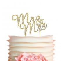 wedding photo - Mr and Mrs GOLD Cake Topper - Mr & Mrs Cake Topper for Wedding, Bridal Shower, Wedding Shower, Hen Party, Anniversary Cake - Ships Next Day!