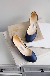 wedding photo - Metallic Blue Bridal Shoes