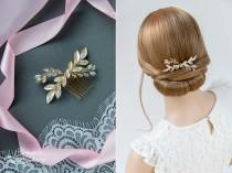 wedding photo - Wedding hair jewelry, bridal hair comb with opal rhinestones, bridal hair accessories, bridal hairpiece