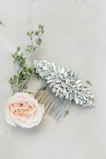 wedding photo - Crystal Comb Bridal Comb Wedding Comb Rhinestone Comb Crystal Hair Piece Wedding Hair Piece Bridal Hair Piece Crystal Headpiece Pearl Comb
