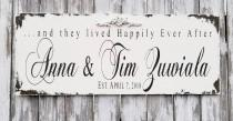 wedding photo - Distressed Established Sign with First and Last Names and Established Date