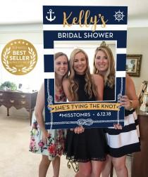 wedding photo - Nautical Bridal Shower Photo Prop - Beach Photo Prop - PDF - Bachelorette Photo Prop - Girls Weekend - Nautical - Printed Option Available