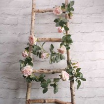 wedding photo - Light Pink Rose Flower Garland, Artificial Flowers, Vines, Flower Garland, Rustic Wedding Decorations, Home Decorations, Party Decorations,
