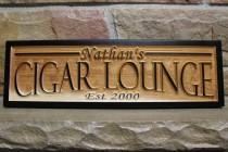 wedding photo - cigar bar sign, custom name sign, personalized signs, wood wall art, boyfriend gift, cigar lounge, custom wedding bar signs, man cave decor