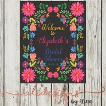 wedding photo - Mexican fiesta, printable welcome sign