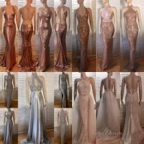 wedding photo - Bridesmaid dress Long Blush Silver Sequin Prom Mermaid Rose Gold Open Back Dress Long dress cocktail dress formal elegant dress sexy dress
