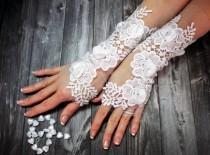 wedding photo - White Wedding Glove Lace Gloves Fingerless Glove Wedding Gown Unique Bridal Glove Wedding Bride Bridal Gloves Gift For Bride