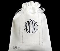 wedding photo - Lingerie bag personalized with monogram Bridal shower gift for her jfyBride Style 9843