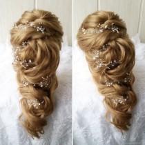 wedding photo - Free shipping!!Extra Long Hair Vine,Bridal Hair Vine,Wedding Hair Vine,Crystal Hair Peice,Bridal Jewelry,Hair vine.wedding hair vine.