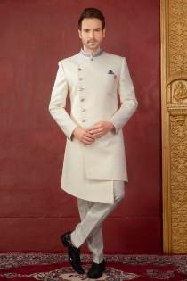 wedding photo - Exclusive Royal Wedding Groom Sherwani Party wear Indo Western Ceremony Religious Elegant Outfit