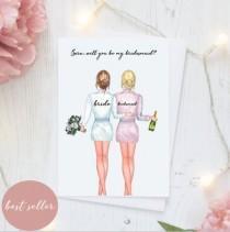 wedding photo - Will You Be My Bridesmaid/Wedding Cards/Bridesmaid Proposal Cards/Greeting Cards/Bridesmaid
