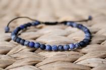 wedding photo - Sodalite Bracelet, Men Bead Bracelet, Men blue bracelet, Men Healing Bracelet, Men Zen Bangle, Men Gift, Anniversary, unisex, Matte bead 6mm
