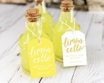 wedding photo - Limoncello Favor Tags, Limoncello Favors, Limoncello Tags, Limoncello Labels, Limoncello Bottle, Limoncello Wedding Favor, Alcohol Favors