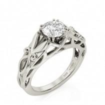 wedding photo - Celtic Engagement ring, Art Deco Engagement Ring, 1ct Moissanite engagement ring, engagement ring, 1.5ct engagement ring, Braided, 2139