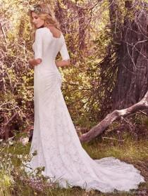 wedding photo -  2018 Vintage Country Wedding Dresses With Half Long Sleeves Bohemian Full Lace Modest Wedding Bridal Gowns 2017 Custom Made Wedding Dresses Designers Wedding Dresse