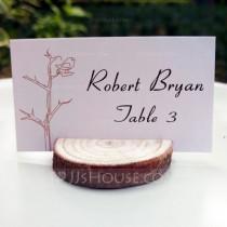 wedding photo -  BeterWedding - Wood Slice Card Holder DIY Party Decoration R: 3-4cm H: 1cm
