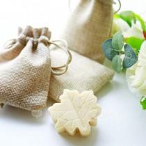 wedding photo -  Leaf Design Soap in Burlap Bag Wedding Favors - Shanghai-Beter.Taobao.com