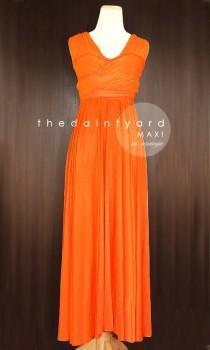99c82bd2de6 TDY Orange Maxi Bridesmaid Dress