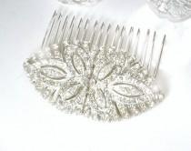 wedding photo - Authentic Art Deco Pave Rhinestone Bridal Hair Comb,Silver Paste Crystal 1930s Vintage Wedding Dress Clips OOAK Headpiece Accessory GATSBY