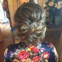 "wedding photo - Wedding Hair Vine, Bridal Hair Accessory, Wedding Hair Accessory, Hair Jewellery, Prom Hair, 'Ella' Ready to Ship 6"" length"