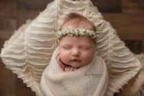 wedding photo - Olivia--Newborn Flower Crown--Newborn Photography Prop--Newborn Flower Halo