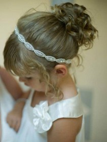 wedding photo - Flower girl, Headpiece, Headband, Flower Girl Hair Accessories, Child Headband, Weddings, Bridal Accessories, Rhinestone headband, Gift