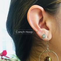 wedding photo - Conch Hoop Earring Snug Orbital 10mm 11mm 12mm 13mm Gold Silver Rose Gold Hoop Piercing 14mm 15mm 16mm 18g 20g 22g