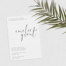 wedding photo - Minimalist Wedding Invitation, Printable Invitation, Modern Wedding Invitation, Simple Invitation, Editable Invitation, Printable Wedding