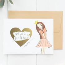 wedding photo - Flower Girl Proposal Cards, Junior Bridesmaid Proposal, Will You Be My Junior Bridesmaid (WYBMJSO)
