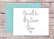 wedding photo - You Will Be My Cousin Forever Card, Bridesmaid Proposal Card, Will You Be My Bridesmaid Card, Cousin Card, Maid of Honor Card - (FPS0061)