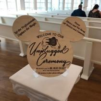 wedding photo - Disney Influenced Unplugged Ceremony Sign