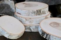 wedding photo - WHITE BIRCH Slices - Wood Slices - Tree Slices - Natural Wood Stand - Wood Slab - Wood Cake Stand - Slice of Wood - Wild Thing