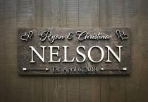wedding photo - Custom Wedding Sign / Established Sign / Wedding Gift / Bridal Shower / Anniversary / Family Name Sign / Rustic Sign / Wood sign / Last Name