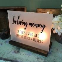wedding photo - Wedding Memorial Sign - In Loving Memory Wedding Sign - Acrylic Wedding Sign - Memorial Candle - Memory Wedding Decor - Wedding Luminary