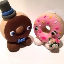 wedding photo - Donut Wedding Cake Topper - Choose Your Colors