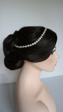 wedding photo - Silver Rhinestone Bridal Headband,Bridal Accessories,Wedding Accessories,Crystal Wedding Hairband,Bridal Headpiece,#H31