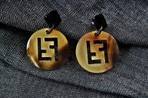 wedding photo - Creative Fendi style Earrings Fendi style Jewelry Christmas Earrings Daily Earrings Boucles d'oreilles Orecchini Drop Earrings NP/1