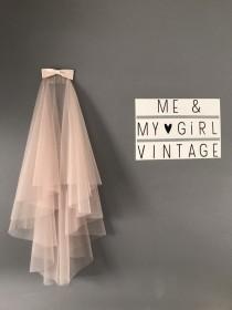 wedding photo - Blush coloured wedding veil