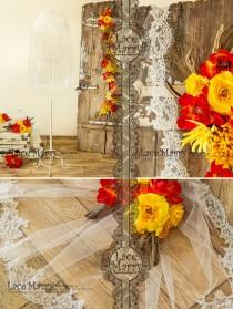wedding photo - Fingertip Lace Edged Veil, 1 Tier Short Wedding Veil with Slim Eyelash Lace Trim, Single Layer Bridal Veil with Scalloped Alencon Lace Hem