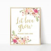 wedding photo - Let Love Grow Sign Wedding Favor Sign Please Take One Seed Favor Sign Succulent Favor Sign Favors Please Take Printable DIY 4x6, 5x7, 8x10
