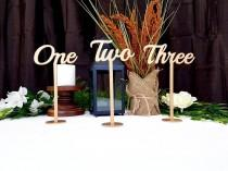wedding photo - Gold Table Numbers for Wedding
