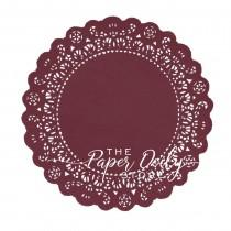 wedding photo - BURGUNDY Paper Doilies Normandy