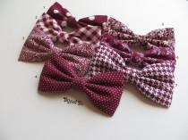 wedding photo - Red Burgundy Bow Tie, Mismatch Bow Tie, Burgundy Bow Tie, Ring Bearer Outfit, Wedding Bow Ties