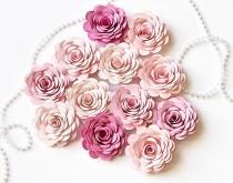 wedding photo - Bulk Paper Flowers - Small Paper Flowers - Pink Wedding Table Decor - Loose Paper Flowers - DIY Craft Project