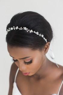 wedding photo - Pearl Wedding Hair Vine,  Bridal Headpiece, Bridal Hairpiece, Bridal Headband, Wedding Hairpiece, Wired Pearl Hair Vine