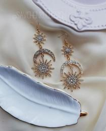 wedding photo - Moon Phases Earring
