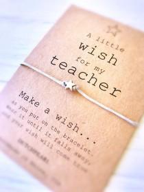 wedding photo - Teacher appreciation gift  - wish bracelet -  high school college kindergarten - graduation gift bracelet - student jewelry dutchpearl