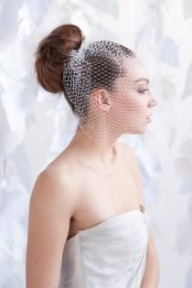 wedding photo - Birdcage veil - multiple colors lengths- ready to ship